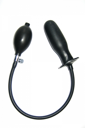 Inflatable anal plug for gluing into latex clothes or underwear