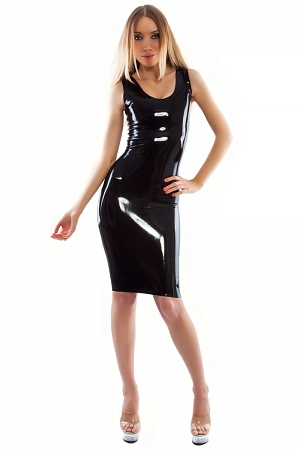 Latex sheath dress