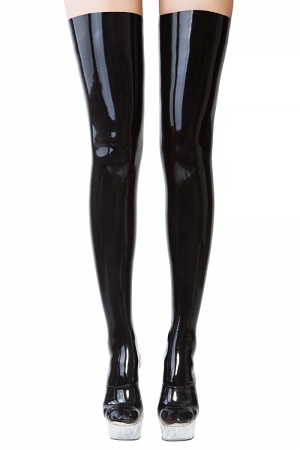 Black latex stockings