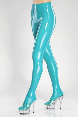 Sexy latex pantyhose with waistband