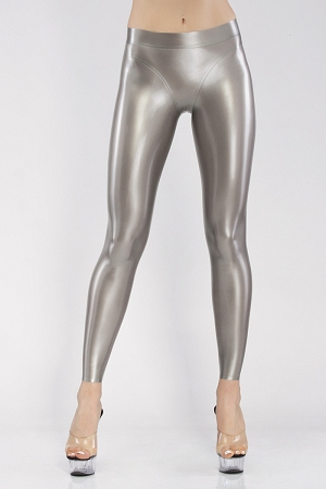 Leggings with anatomic cut, with belt and trimmed edging